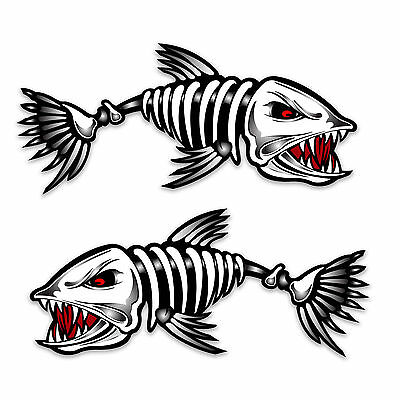 Pair of Johnson Australia Flags Mirrored Motor Hood Fishing Boat Decal Sticker