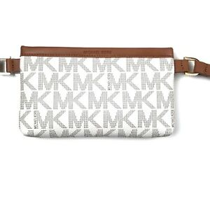 de04af49f3683d Michael Kors MK Signature Leather Belt Bag Fanny Pack Size Small ...