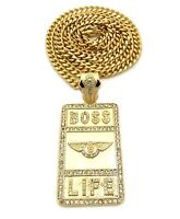 Iced Out Boss Life Hip Hop Chain.