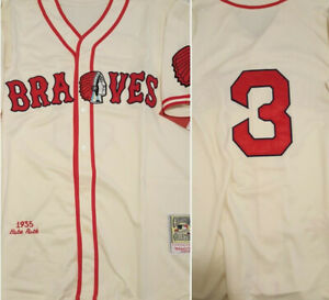 low priced 7aa03 08e49 Details about Retro Boston Braves Babe Ruth #3 Throwback Replica Mens XL  Baseball Jersey