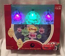 NIB DISNEY PIXAR CARS MOTION ACTIVATED (8) CHRISTMAS TREE LIGHTS~BLINKING/STEADY