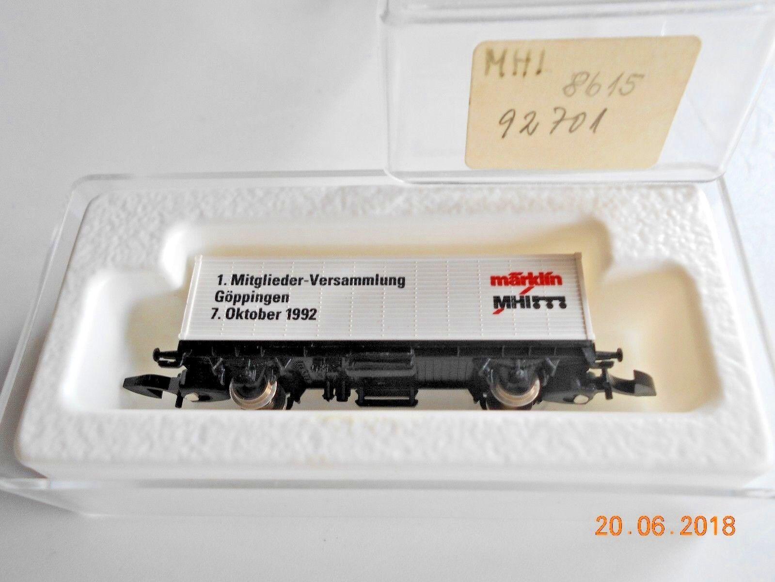Märklin Traccia Z 8615 containwagen MHI pulito con pasti.