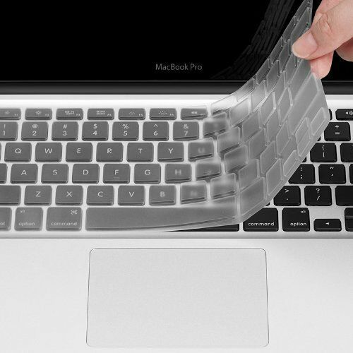 "Glossy Clear Hard Shell Case+Keyboard Cover For MacBook Air 11 Pro 13//15/"" Retina"
