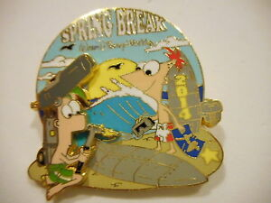 Spring Break 2014 Phineas And Ferb 3-D Disney Pin L//E 1000