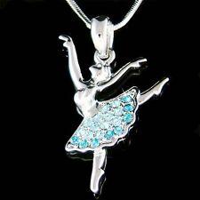 w Swarovski Crystal Blue ~BALLERINA~ The Nutcracker Ballet Dancer Necklace Gift