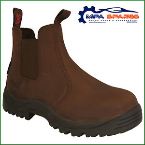 d34ce0b2c11 Details about MACK RIDER ROCKY STEEL TOE CAP WORK SAFETY BOOT LEATHER  WATERPROOF (BROWN)