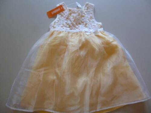 Gymboree Spring Dressy EASTER Yellow Dress White Floral Bodice 6-12 Mos 3T NEW