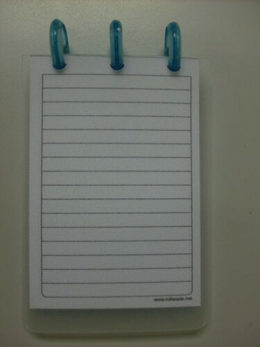 Arc Rollabind Clear Plastic Pocket Size Notebook With Blue Jelly Discs