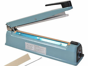 "12"" Heat Sealing Hand Impulse Sealer Machine Poly Free Element Plastic Sealer"