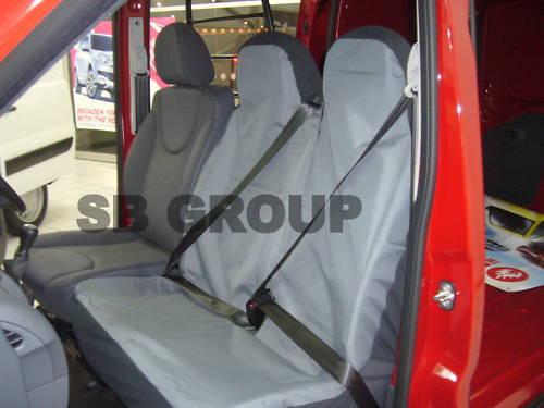 03-10 GREY VAN SEAT COVERS SINGLE /& DOUBLE 2+1 VAUXHALL MOVANO FABRIC BLACK