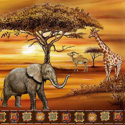 Servietten  Napkins  20 St. Pack.  Serviettentechnik  Tiere in Afrika  Elefant