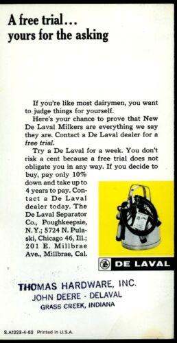 Super Rare Vintage 1962 De Laval Dairy Milking Machine Brochure Pail-Type Milker