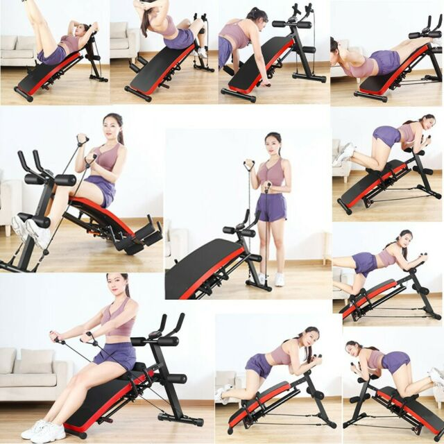 Details about  /NEW Home Gym Abdominal Trainer Crunch Machine/&Sit Up Bench Core Fitness Exercise