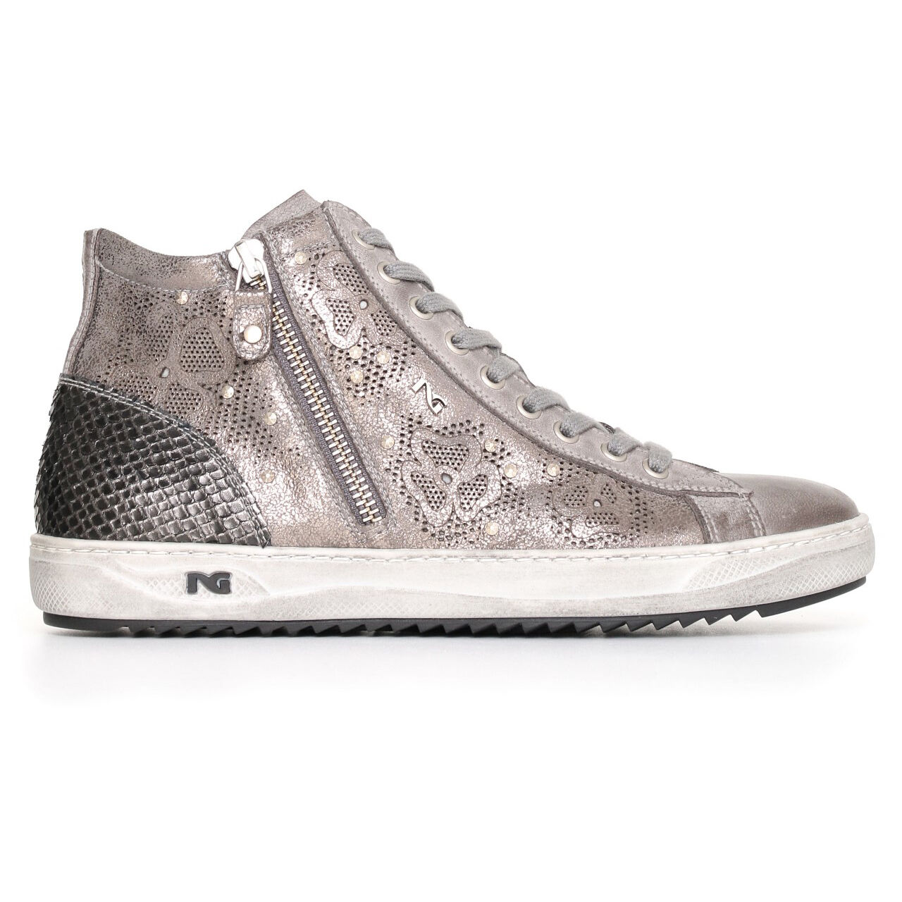 Sneaker scarpa sportiva Nerogiardini A719250D OFFERTA NUOVA COLLEZIONE 2017 zip OFFERTA A719250D b587d2