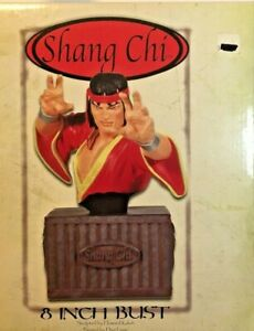 SHANG CHI 8 INCH BUST MARVEL & DYNAMIC FORCES 2003 165/450 New MIB