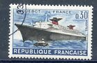 TIMBRE FRANCE OBLITERE N° 1325 PREMIER VOYAGE DU PAQUEBOT FRANCE