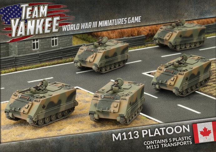 Team Yankee - M113 Platoon (X5 Plastic) - NATO - TCBX02