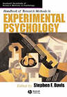 Handbook of Research Methods in Experimental Psychology by John Wiley and Sons Ltd (Paperback, 2005)