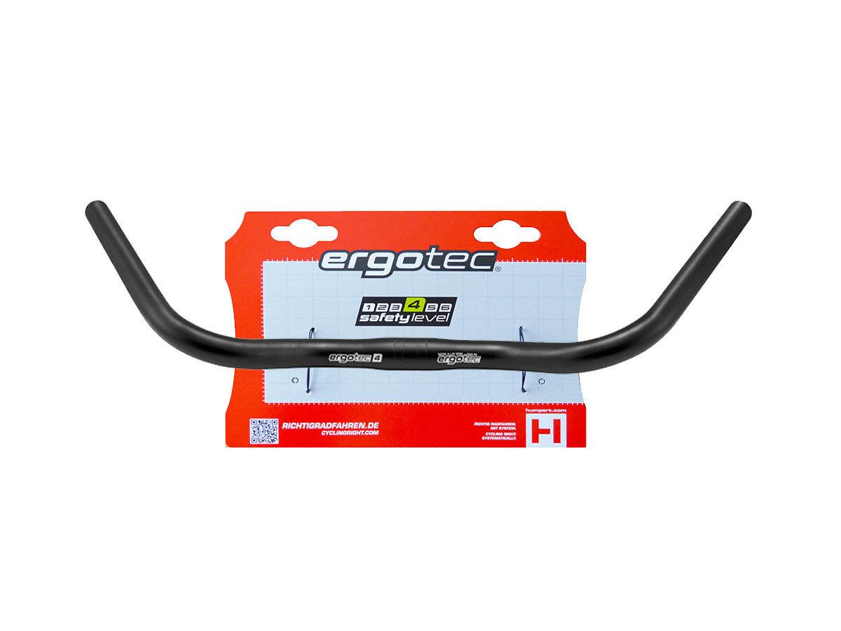 Ergotec Lenker Bügel CONTEST 25,4mm Aluminium mit Hänger Fahrradlenker schwarz