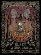 BLACK SABBATH The End 2016 Pepsi Center - Denver 18x24 Gig Poster by Mike Dubois