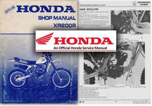 honda xr200r service workshop repair shop repair manual xr200 xr 200