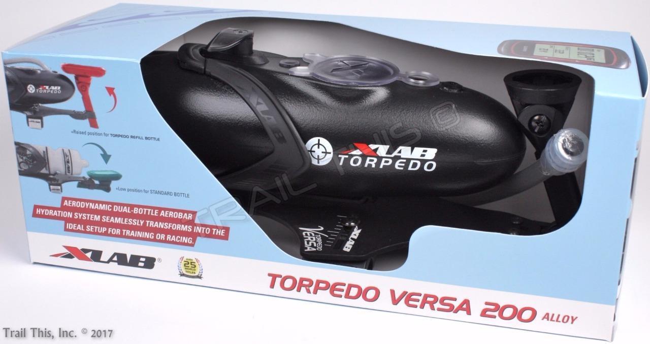 XLAB Torpedo Versa 200 Alloy Aero Triathlon Hydration + Garmin Front Mount 26oz