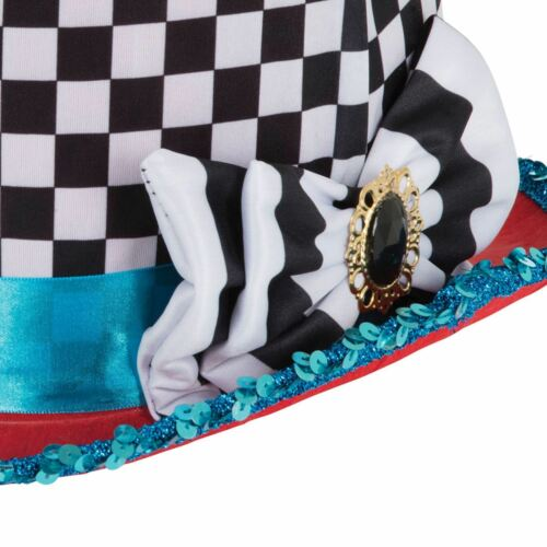 Mad Hatter Wonderland Tea Party Stovepipe Alice Fancy Dress Book Week Top Hat