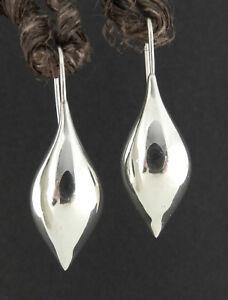 Details About Michael Dawkins 925 Sterling Silver Pointed Teardrop Dangle Drop Earrings