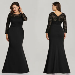 Details about US Ever-Pretty Plus Size Lace Mother Of Bride Prom Dresses  Mermaid Evening Gowns
