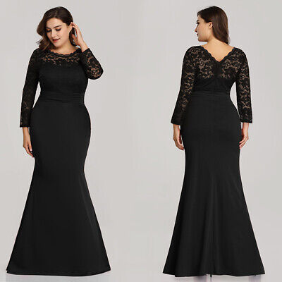 2018 sneakers save up to 80% special sales Ever-pretty US Black Formal Mother Of Bride Dress Plus Size Mermaid Evening  Gown | eBay