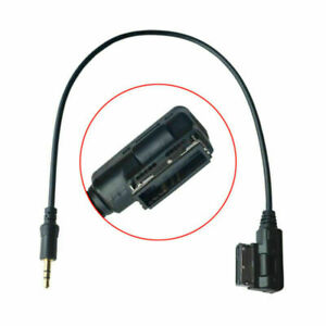 Media In AMI MDI to 3.5mm Stereo Audio Aux Adapter Cable fit tor VW AUDI Car