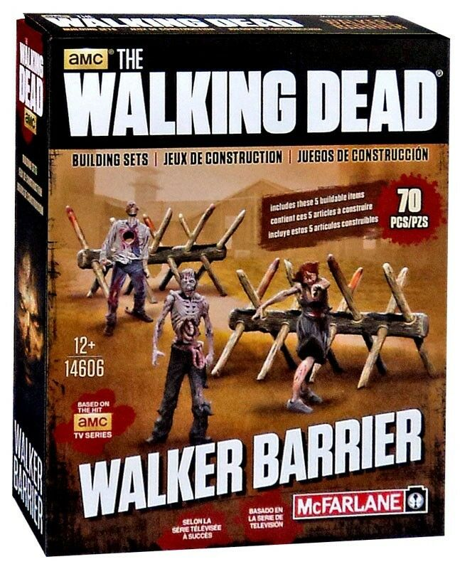 McFarlane Toys The Walking Dead Walker Barrier Building Set  14606