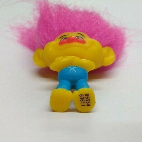 Trolls Blind Bag Series 4 Mini Figure Yellow Troll Pink Hair No Packaging