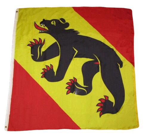4x4 Bern Swiss Canton Black Bear Rough Tex Knitted Premium Flag 4/'x4/' Banner
