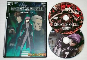 Ghost In The Shell Dvd Movie 1 2 3 Perfect Collection Set English Dub Usa Ebay