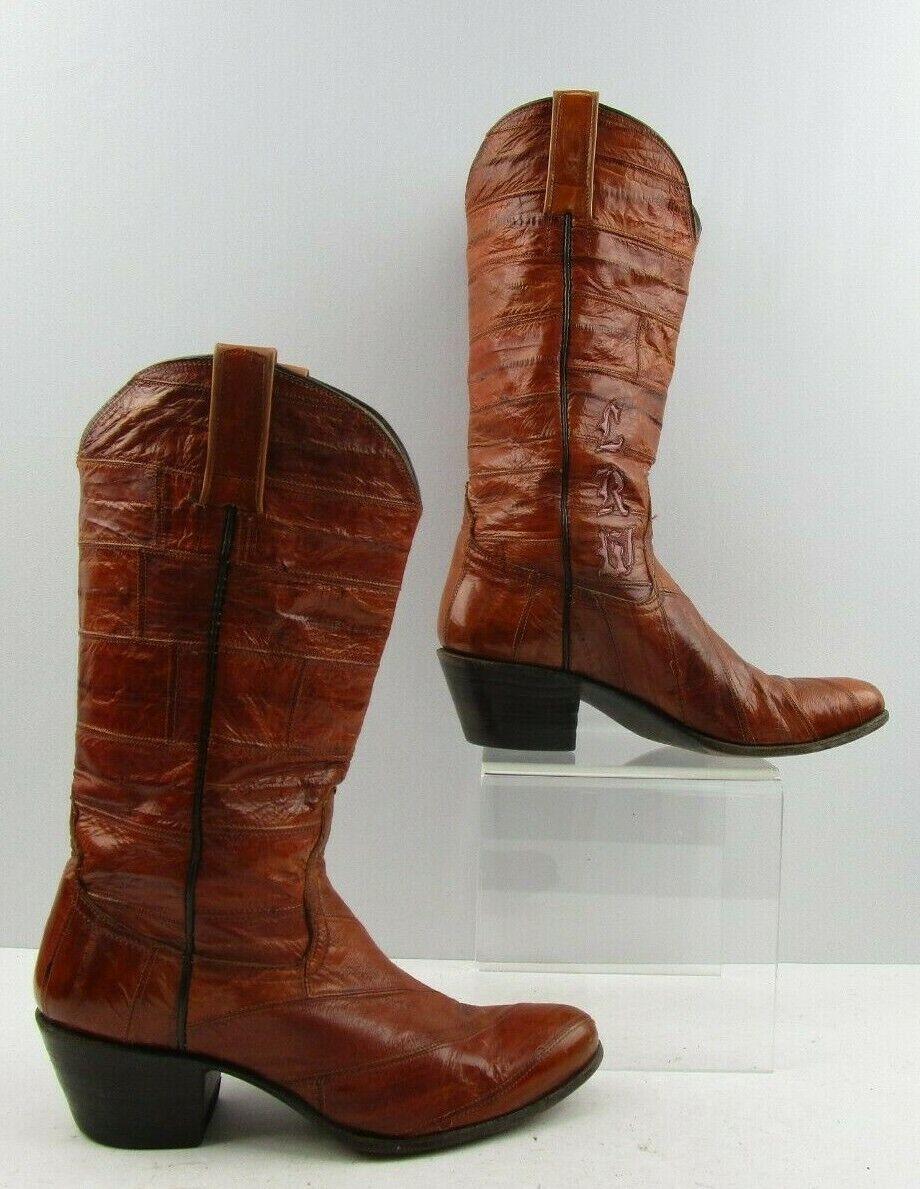 Ladies Cavazos Brown Eel Western Boots Size   7M