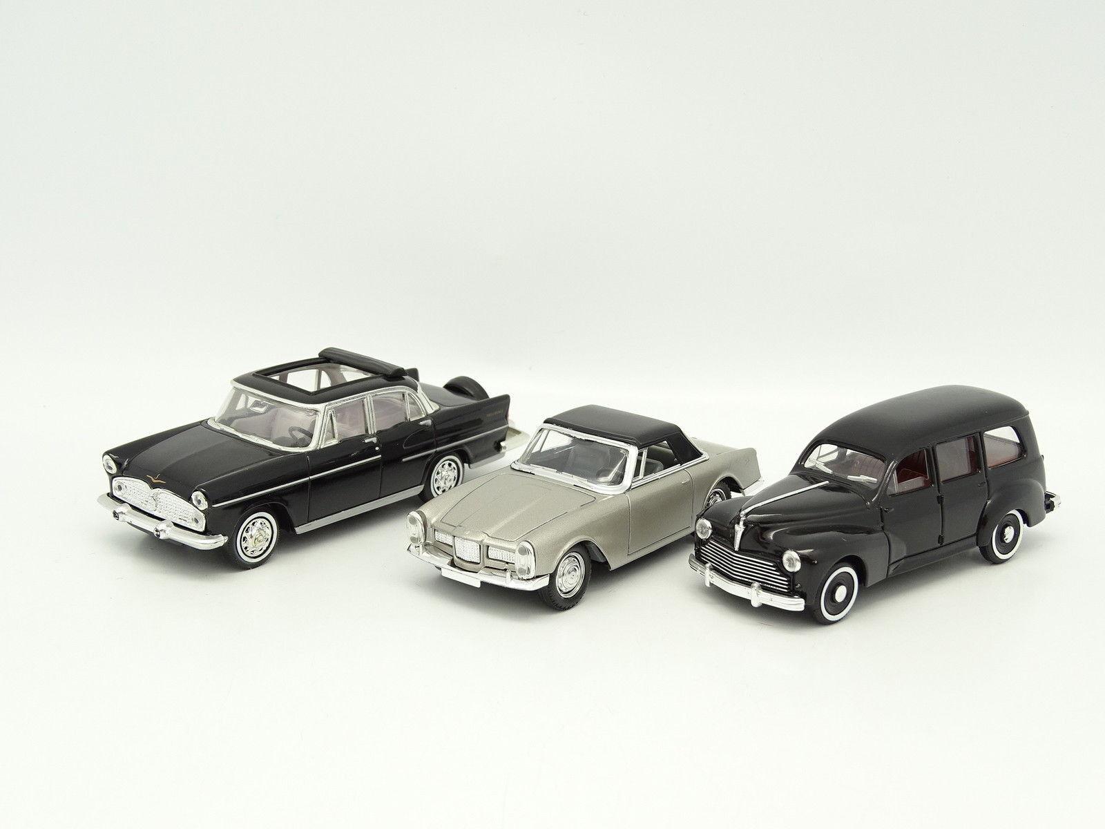 Solido SB 1 43 - Set of 3   Simca - Facel - Peugeot