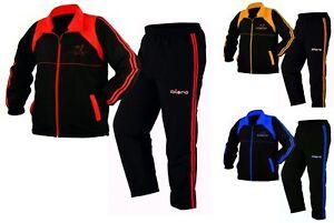 Evo-Herren-Sport-Trainingsanzug-Fitness-Satz-Joggen-Fussball-Hose-Reissverschluss