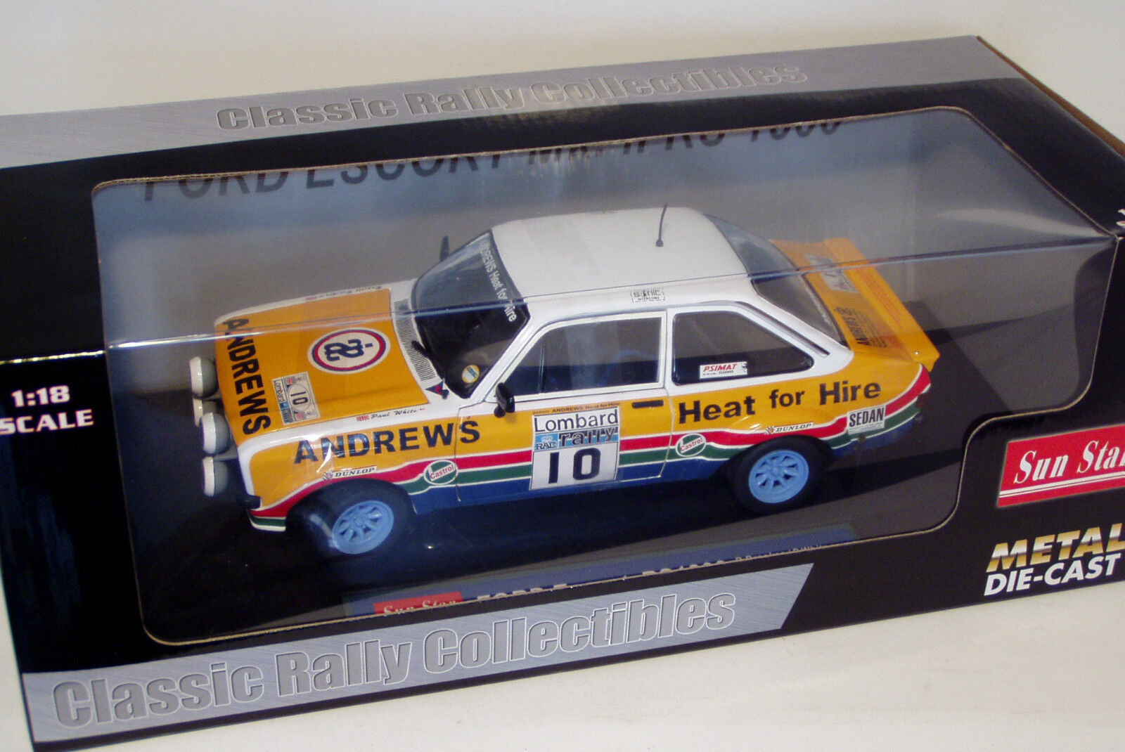 1/18 FORD ESCORT RS1800 Andrews calore per noleggio Lombard RAC Rally 1979 R. Brookes