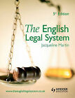 The English Legal System by Jacqueline Martin (Paperback, 2007)