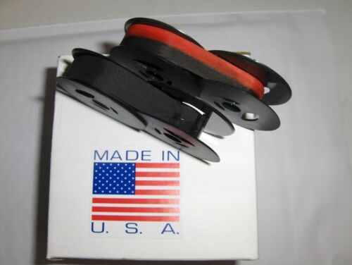 Brother 1500 Typewriter Ribbon 2 Pack - (1) Solid Black + (1) Black and Red