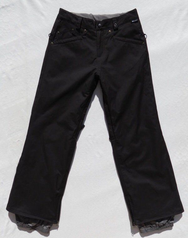 Burton Damen Jeans Schwarz Style Isoliert Snowboard SKIHOSEN Größe S Euc