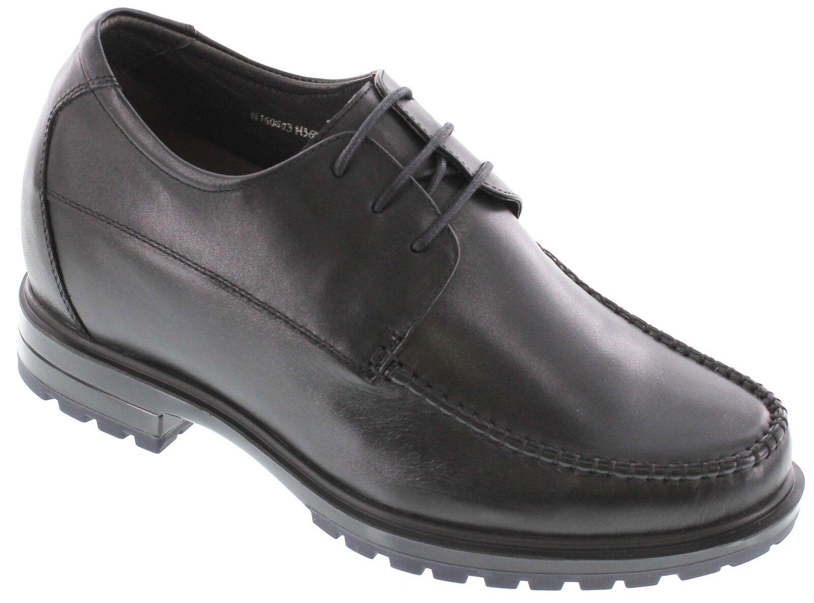Toto H36021 - 9.1cm Aufzug Höhe Vergrößerte Schwarz Moc Zehen Kleid Schuhe