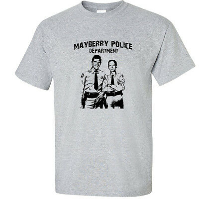 Andy Griffith Show MAYBERRY POLICE DEPT Adult Long Sleeve T-Shirt S-3XL