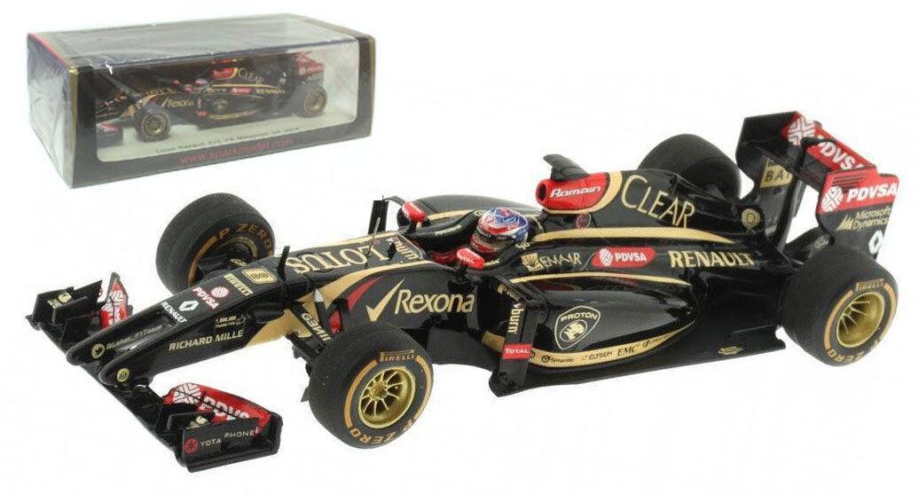 SPARK s3089 Lotus e22  8 Malaysian GP  2013-Romain Kristensen 1 43 Scale  prix bas 40%