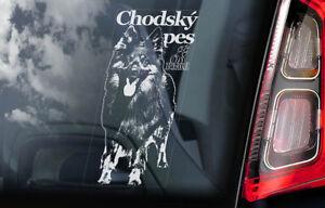 Chodsky-Pes-On-Board-Auto-Finestrino-Adesivo-Chodsky-Shepherd-Cane-Segno