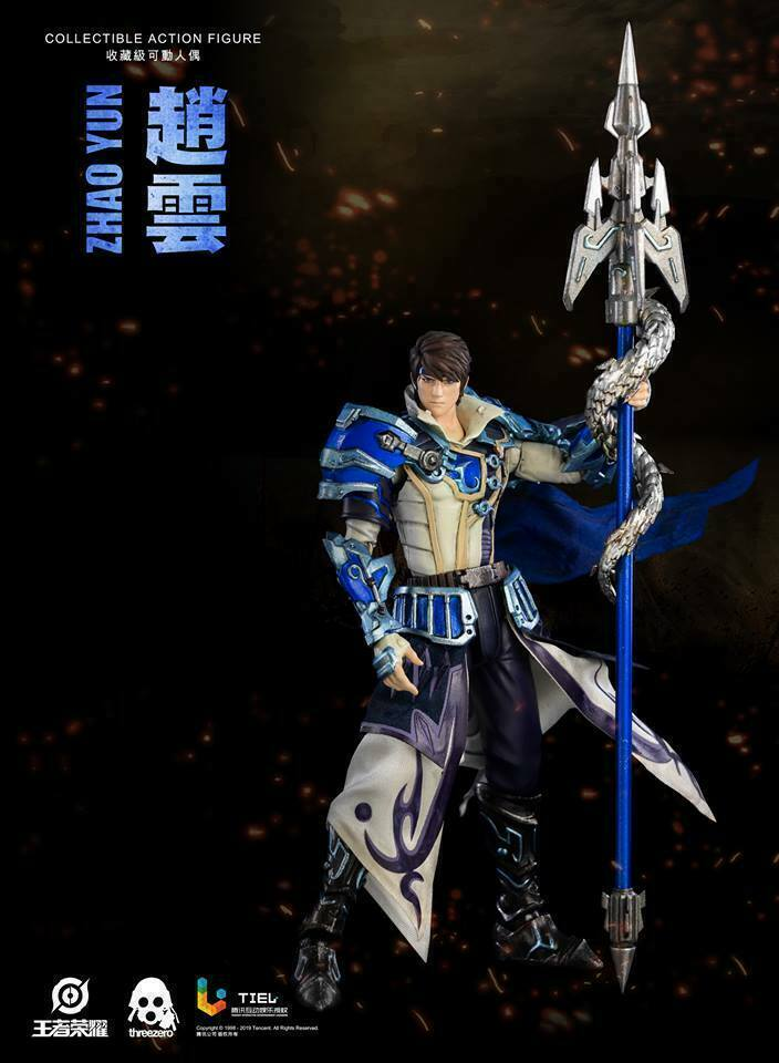 1 12 3A Threezero Glory of Kings Zhao Yun  Character Figure Collectible Ornament