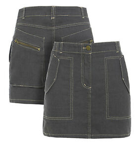 NEW-Womens-Skirt-Stretch-Short-Mini-Skirts-Ladies-Size-8-10-12-14-Grey-Girls