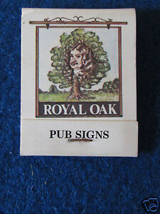Vintage-Matchbook-Bryant-amp-May-Royal-Oak-Unused
