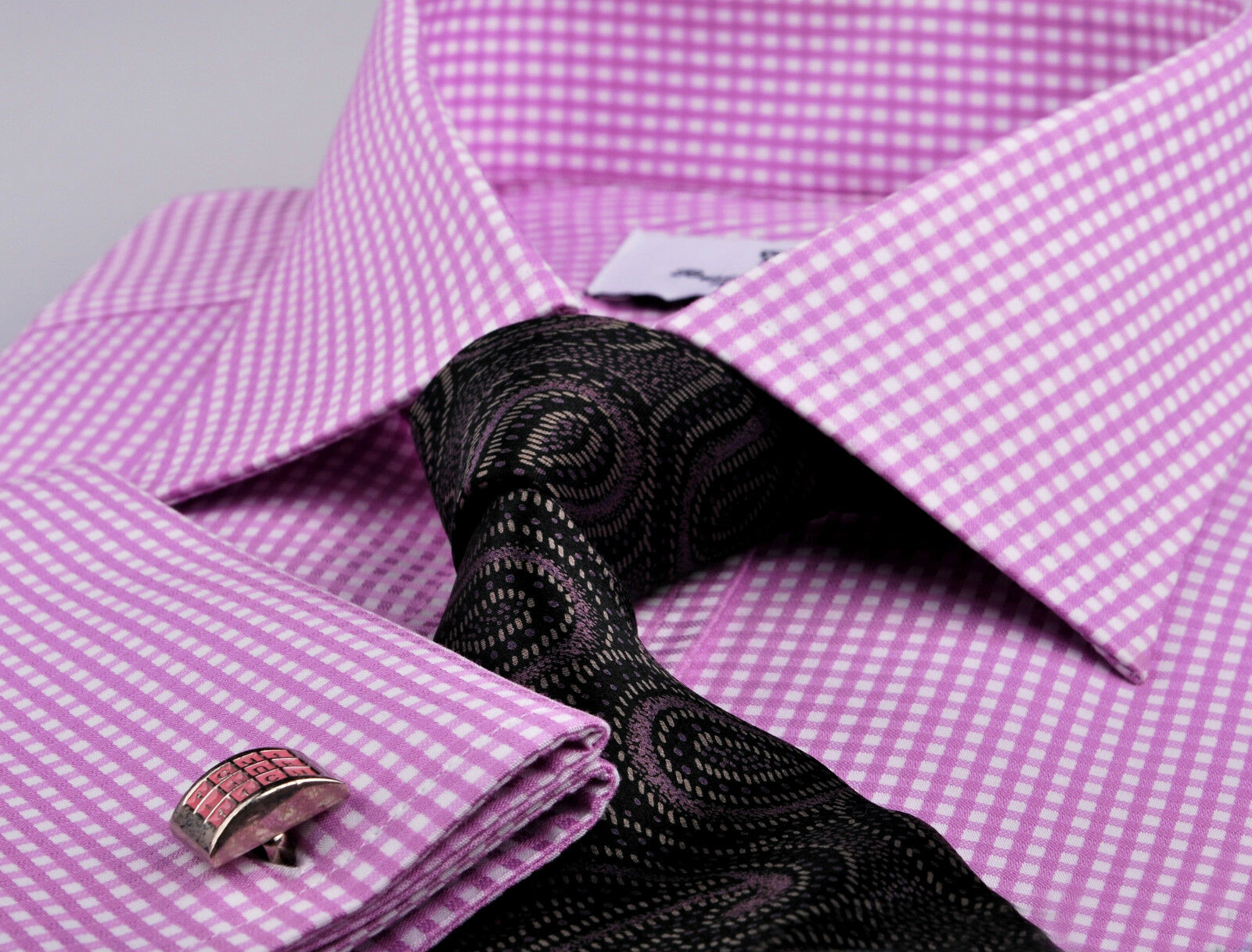 Hot rose Affaires Shirt Formal Gingham Robe Check B2B Boss mode A+ Pour des hommes Wear